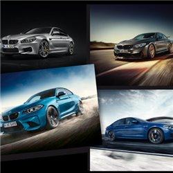 Lot de 4 affiches BMW M Collection avec tube Collection BMW M 2018-2020